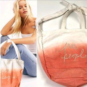Free people dip dye ombre tote bag